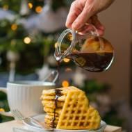 Bezglutenowe gofry najlepsze  śniadanie