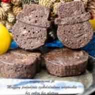 Muffiny podwójnie czekoladowe (wegańskie, bez cukru, bez glutenu)