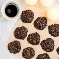 Czekoladowo-orzechowe ciasteczka bez pieczenia