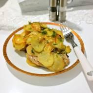 Schab zapiekany z pesto i suszonymi pomidorami