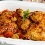Kurczak bursztynowy z warzywami i czosnkiem kolorowym + niespodzianka