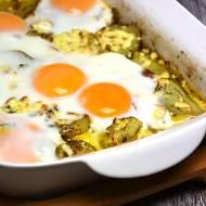 Zapiekanka jajeczno ziemniaczana z oscypkiem