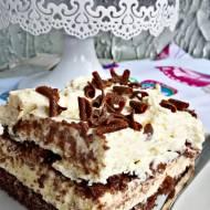 Ciasto budyniowo - śmietanowo - czekoladowe