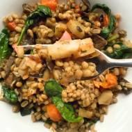 Poniedziałek: Pęczotto z grzybami, warzywami i szpinakiem