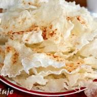 Domowe prażynki z papieru ryżowego