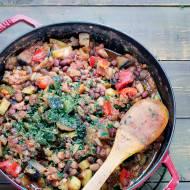 Przepis na Chili sin carne z cukinią i bakłażanem