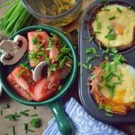 Śniadanie mistrzów- jajka z piekarnika