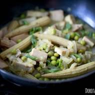 Zielone curry z szynką