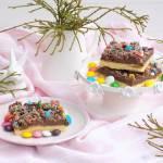 Kruche ciasto z kremem i cukierkami.