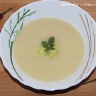 """Zupa - krem z pora i """"Szczęście pachnące wanilią"""""""