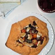Galette z burakiem i serem pleśniowym