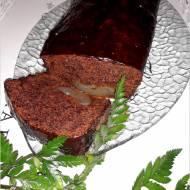 Szybkie ciasto czekoladowe z gruszką
