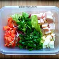 Sałatka śniadaniowa (białkowo-tłuszczowa, dieta redukcyjna)