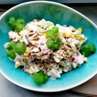 Sałatka z nać selera, szynką i serem