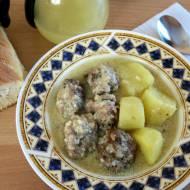 Klopsiki w sosie cytrynowym - giouvarlakia avgolemono