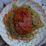 Wegańskie spaghetti po bolońsku