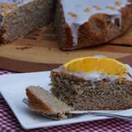 Szybkie wegańskie ciasto z kaszy manny z cytrusową nutą