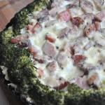 Tarta z kiełbasą i brokułami