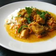 Curry z dorsza ze skórką mandarynkową.