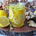 Syrop na przeziębienie cytryna, miód i imbir