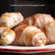 mini roladki - kurczak zapiekany w boczku