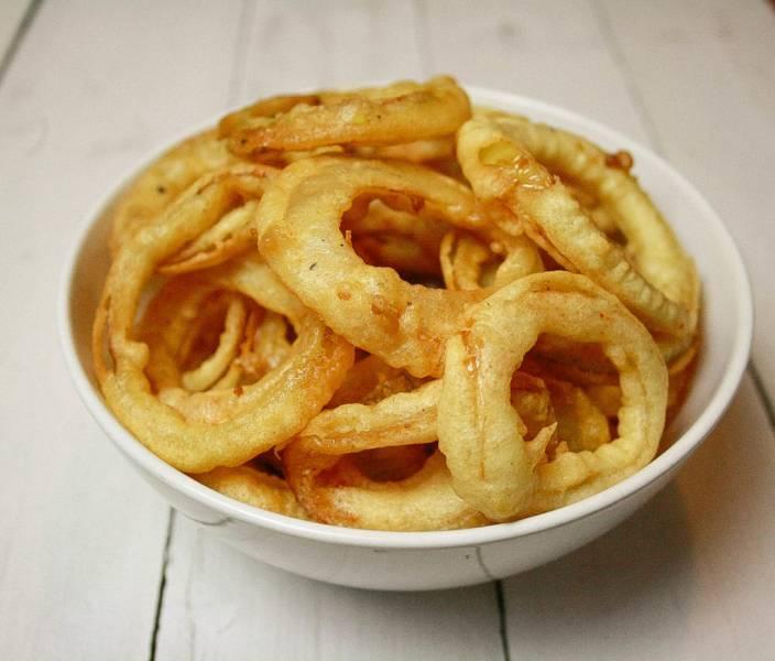 Cebulowe krążki – onion rings – pyszna przekąska