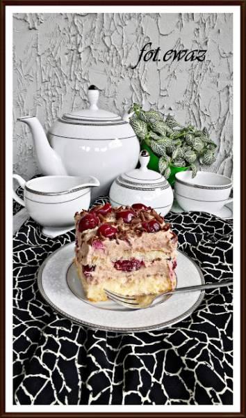 Ciasto cukierkowo - wiśniowa fantazja