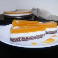 Ciasto bez pieczenia KOKOS – MANGO (wegańskie, bezglutenowe)