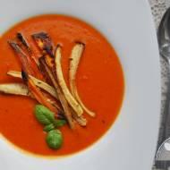 Zupa krem z pieczonej papryki i batatów
