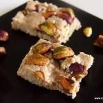 Domowa chałwa z pistacjami (bez cukru, glutenu, laktozy)