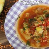 Zupa z soczewicą i ananasem