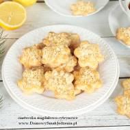 kruche ciasteczka migdałowo cytrynowe