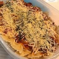 Makaron z sosem pomidorowym czyli szybki pomysł na lunch do pracy