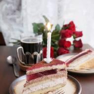 Tort malinowo-czekoladowy z galaretką