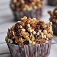 Muffinki czekoladowe z chrupiącą posypką