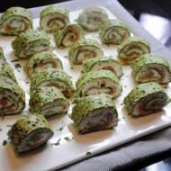 Naleśniki szpinakowe z łososiem – super przekąska na imprezę