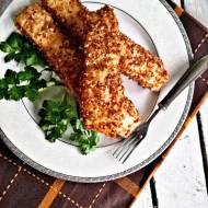 Filet z łososia w wędzonej soli i gryczanej panierce