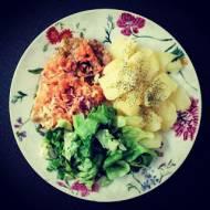 Schabowy z warzywami