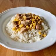 Szybki i prosty kurczak z kukurydzą