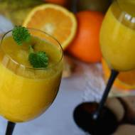 Koktajl pomarańczowo - gruszkowy z nutą imbiru