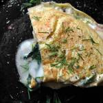 Omlet ze szpinakiem i serem taleggio