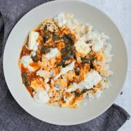 Wegański Saag – czyli indyjska potrawka ze szpinakiem