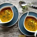 Zupa z dynii i mango. Super fit