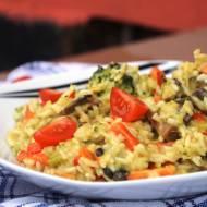 Warzywa z ryżem duszone w mleczku kokosowym