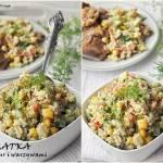 Sałatka z kaszy bulgur z warzywami