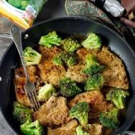 Schab z brokulami w musztardzie
