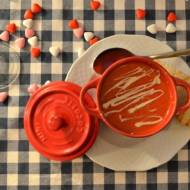 Rozgrzewający zmysły  krem z czerwonej papryki z mleczkiem kokosowym i białą czekoladą