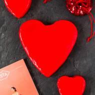 Walentynkowy sernik na zimno z malinami