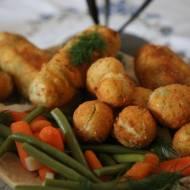 Ziemniaki z serem, zawijane
