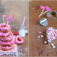 Serduszkowe oponko-donuty / Heart-shaped donut